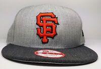 San Francisco Giants New Era 9Fifty Heather Action Graphite Snapback Hat MLB
