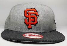 San Francisco Giants New Era 9Fifty Heather Action Graphite Snapback Hat