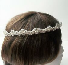 Stefana wedding crowns,Greek orthodox marriage ceremony crowns,clear rhinestones