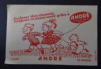 Buvard chaussure André LE CHAUSSEUR SACHANT CHAUSSER ! Blotter Löscher nounours