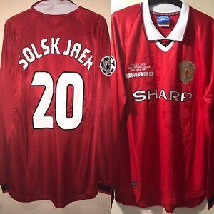 manchester united shirt XL 1999 Champions League Final SOLSKJAER #20 long sle