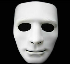 Theater Prop White Creepy Full Face Cosplay Halloween Party Costume Mask