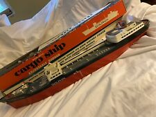 Vintage, 1960's Battery Powered Amf Cargo Ship The Dolphin, Original Box