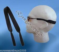 Black Neoprene Sunglasses / Glasses Safety Band Strap Cord Retainer UK Stock