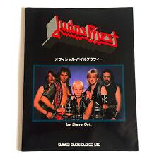 JUDAS PRIEST Official Bipgraphy JAPAN PHOTO BOOK 1985 Rob Halford Glen Tipton