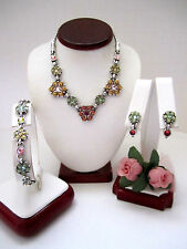 "Brighton ""GARDEN OF EDEN"" Necklace-Earring-Bracelet Set (MSR$135)/Pouch"