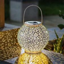 Solar Power LED Lantern Garden Hanging Lamp Lawn Landscape Decor Outdoor E4K7