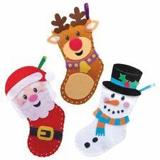 5 Navidad Decoraciones de imán de arte rasguño manualidades de niños Ángel de Navidad Santa Muñeco de nieve