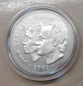 """Spanien 12 Euro 2002  """"EU-Präsidentschaft""""  Silber PP"""