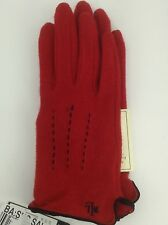 Women's RALPH LAUREN Red WOOL-CASHMERE Gloves - size XL - $42 MSRP