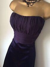 Coast Deep Purple Dress Size 12 Vgc
