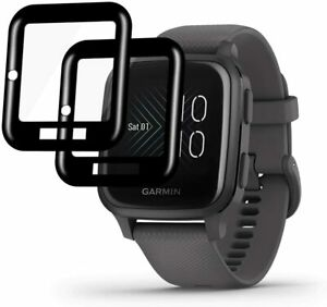 For Garmin Venu SQ Full Cover Tempered Screen Protector