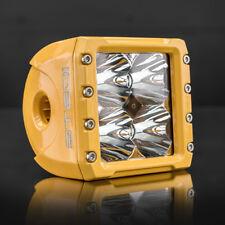 Yellow LED Spot Light Square Cube for Tractor Dozer Header Loader STEDI