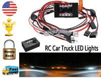 US 1/10 LED Light Kit Brake+Headlight+Signal 2.4ghz PPM FM For HSP RC Car Truck