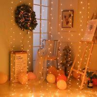 Sn _ 3x3M DIY 300LED Rideau Cordons Clair USB Solide sur Lampe Fête de Noël