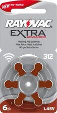 * Doppio Pack * RAYOVAC 312 Mercury Free Apparecchio acustico Batterie (2 scatole, 120 CELLE)