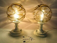 Pair of Mid century nightstand bedside lamps 70`s space age