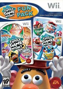 Hasbro Family Game Night Fun Pack - Nintendo  Wii Game