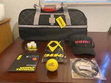 Volkl Tour Duffle Tennis Gym Travel Bag Bundle - Black/Silver - V76203 - Nwt
