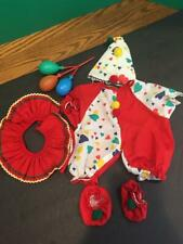 Vintage Tender Heart Treasures Bear Doll Clown Outfit-Hat-Shoes-Balloon Lot 1991