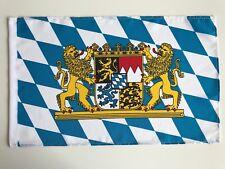 Fahne Flagge Bayern mit großem Wappen 30x45 cm mit Schaft