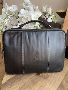 Johnnie Walker soft Genuine leather laptop bag- brown