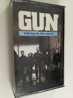 Gun : Taking On The World : Vintage Tape Cassette Album From 1989.