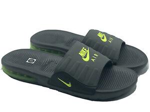 Nike Air Max Camden Slide Sandals Men's Size 10 Anthracite Grey Volt BQ4626-001
