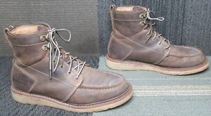Mens ARIAT Recon Lace Soft Toe Tan Leather Work Boots sz 10 D