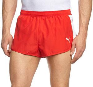 Puma TB Mens Running Split Shorts - Red
