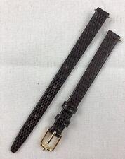 Kreisler Lizard Grain Calfskin 8mm Brown Non-Stitched Leather Watch Band W151