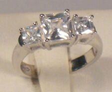 2.50 Ct Princess cut Diamond Engagement Anniversary 3 Stone Ring White Gold ov