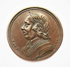 Oliver Cromwell 1658 - Sentimental Magazine -  Medal Token - J Kirk