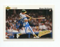 MARK MCGWIRE SIGNED 1992 UPPER DECK UD OAKLAND A'S CARD PROOF
