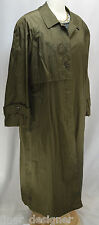 Vintage Totes Womens SZ 14 Raincoat 80s Olive oversized long trench lined coat