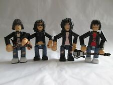 The Ramones 3 inch minifigure set - 4 x handmade OOAK jointed figures