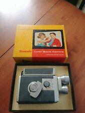Vintage KODAK BROWNIE TURRET 8mm MOVIE CAMERA with 3 LENSES Original Box