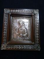 ANTIQUE ANCIENT Orthodox icon silver-plated brass oklad. ARCHANGEL Uriel /Ariel