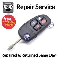 Jaguar 4 Button Key Fob Alarm Remote Repair Service +Jag Rubber Button Pad