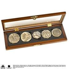 The Hobbit: Dwarven Treasure Set of 5 Cast Metal Coins In Wodden Hinged Case