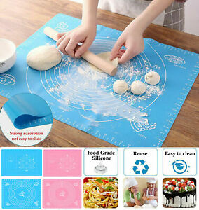 40*60cm Large Non-Stick Silicone Baking Pastry Mat Rolling Dough Mat Baking Mat