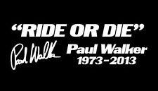 2 x JDM OEM Paul Walker Ride or Die Aufkleber Tuning sticker decal 20 cm