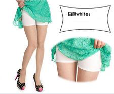 Women Lady Pants Safety Shorts Leggings Yoga Seamless Basic Plain white