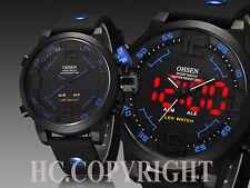 OHSEN Men's LED Digital&Analog Quartz Sport Wrist Watch Waterproof Diving Watch