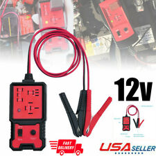 12V Car Auto Battery Checker Electronic Relay Tester Diagnostic Tools W/Clips US
