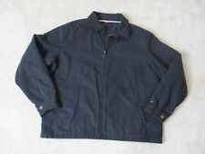 VINTAGE Tommy Hilfiger Sailing Jacket Adult 2XL XXL Black Full Zip Coat Flag 90s