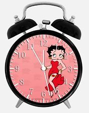 """Betty Boop Alarm Desk Clock 3.75"""" Home or Office Decor W92 Nice For Gift"""