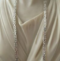 Shiny 925 Sterling Silver Mens Byzantine Kings Chain Necklace 3mm 20Inch 26 GR