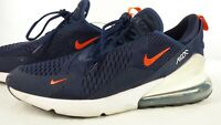 Nike Air Max 270 Navy Orange White Trainers CD1506-400 UK 10 Casual Shoes US 11