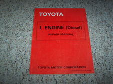 1981 Toyota Hilux Pickup Truck L Engine Diesel Service Repair Manual 1982 1983